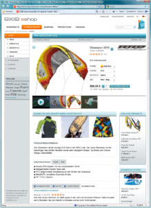 OXID eShop 4.5.0 product view